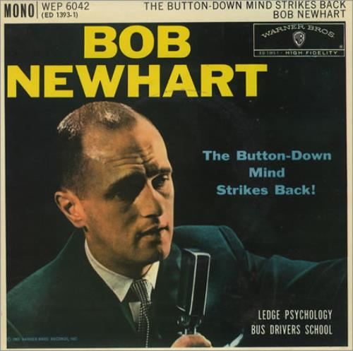 """Bob Newhart The Button-Down Mind Strikes Back! EP 7"""" vinyl single (7 inch record) UK NHT07TH366461"""