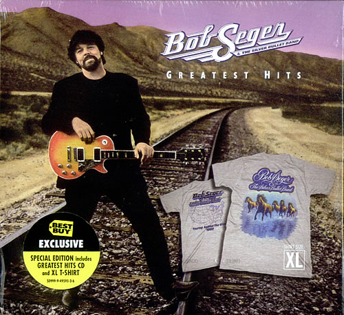 bob seger greatest hits xl t shirt us cd album cdlp 528786. Black Bedroom Furniture Sets. Home Design Ideas