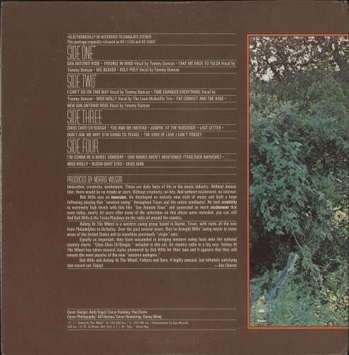 Bob Wills Fathers And Sons 2-LP vinyl record set (Double Album) US WIB2LFA720324
