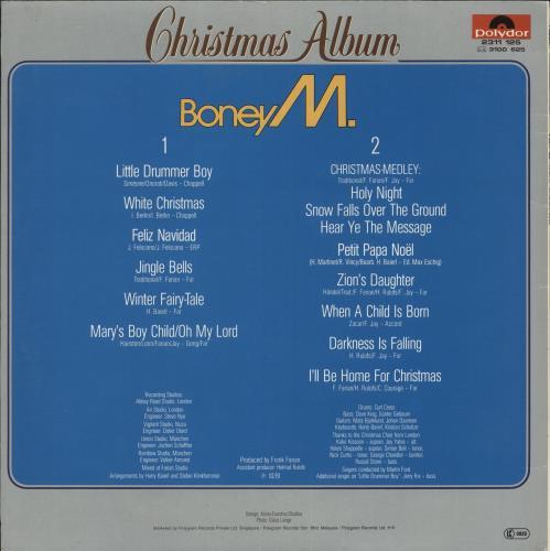 Boney M Christmas Album.Boney M Christmas Album Hong Kong Vinyl Lp Album Lp Record
