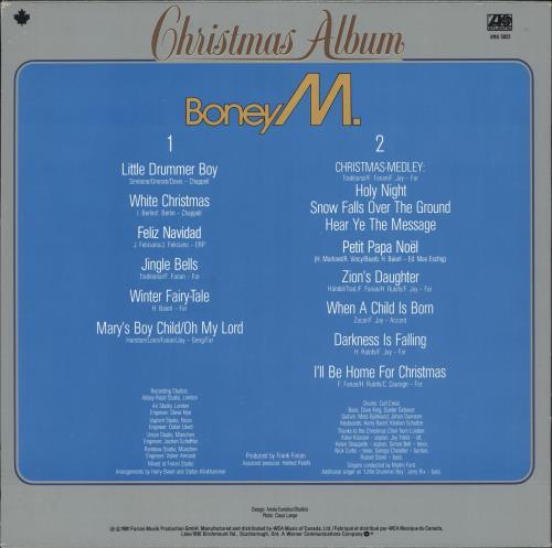 Boney M Christmas Album.Boney M Christmas Album Canadian Vinyl Lp Album Lp Record