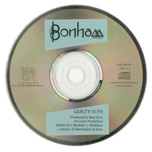 "Bonham Guilty CD single (CD5 / 5"") US BHMC5GU01627"