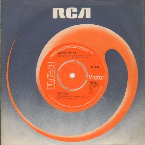 "Bonnie Tyler Heaven 7"" vinyl single (7 inch record) UK BTY07HE643650"
