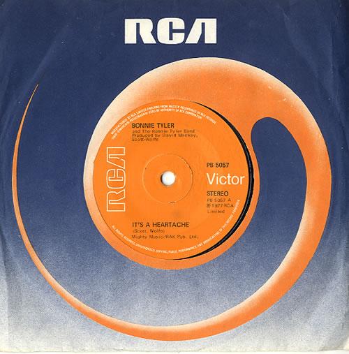 "Bonnie Tyler It's A Heartache - Solid 7"" vinyl single (7 inch record) UK BTY07IT628675"