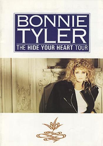 Bonnie Tyler The Hide Your Heart Tour tour programme UK BTYTRTH60638