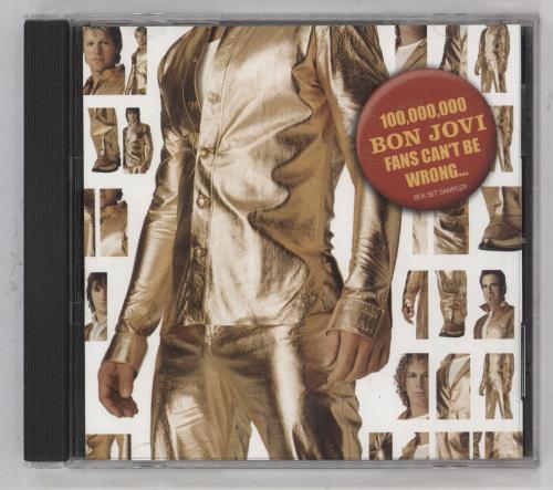 Bon Jovi 100,000,000 Bon Jovi Fans Can't Be Wrong Box Set Sampler CD album (CDLP) US BONCDBO309674
