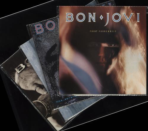 Bon Jovi 1984-1995 Studio Albums vinyl LP album (LP record) UK BONLPST713008