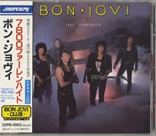 Bon Jovi 7800 Farenheit CD album (CDLP) Japanese BONCDFA178092