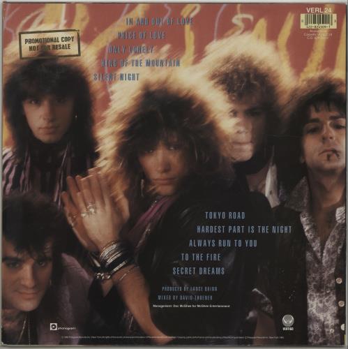 Bon Jovi 7800° Fahrenheit - Promo Stamped vinyl LP album (LP record) UK BONLPFA677791