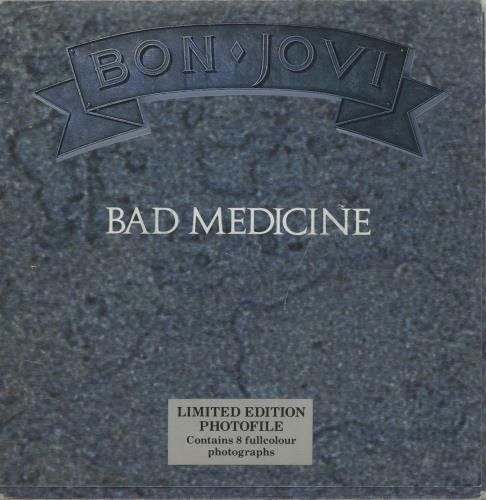 "Bon Jovi Bad Medicine - Photofile 7"" vinyl single (7 inch record) UK BON07BA01467"
