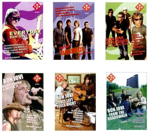 Bon Jovi BJF/TJS - Set of 7 issues fanzine Dutch BONFABJ453542