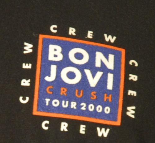 Bon Jovi Crush Tour 2000 t-shirt UK BONTSCR172680