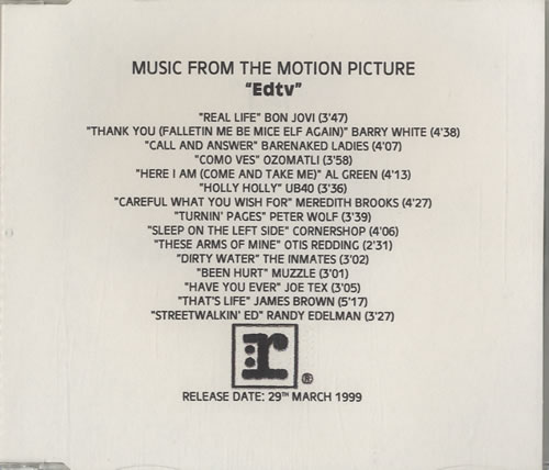 Bon Jovi Ed TV - Music From The Motional Picture CD-R acetate US BONCRED135186
