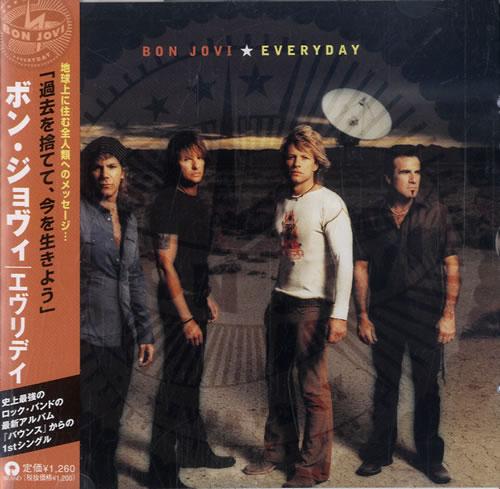 "Bon Jovi Everyday CD single (CD5 / 5"") Japanese BONC5EV227356"