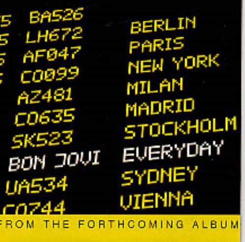 """Bon Jovi Everyday CD single (CD5 / 5"""") UK BONC5EV228417"""