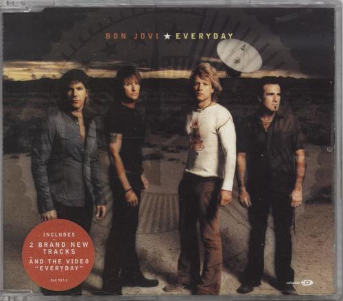 """Bon Jovi Everyday CD single (CD5 / 5"""") UK BONC5EV725372"""