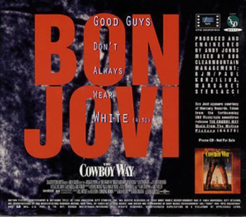 "Bon Jovi Good Guys Don't Always Wear White CD single (CD5 / 5"") US BONC5GO32724"