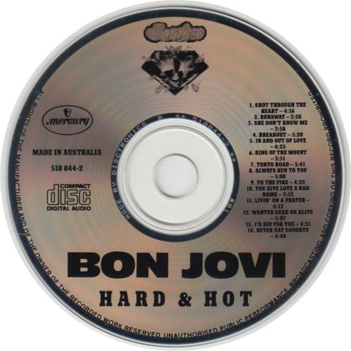 Bon Jovi Hard & Hot CD album (CDLP) Australian BONCDHA00291