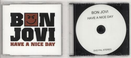 "Bon Jovi Have A Nice Day + DVD-R CD single (CD5 / 5"") UK BONC5HA738391"