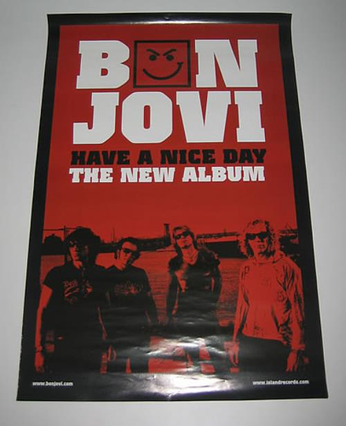 Bon Jovi Have A Nice Day [Red] poster Taiwanese BONPOHA358030