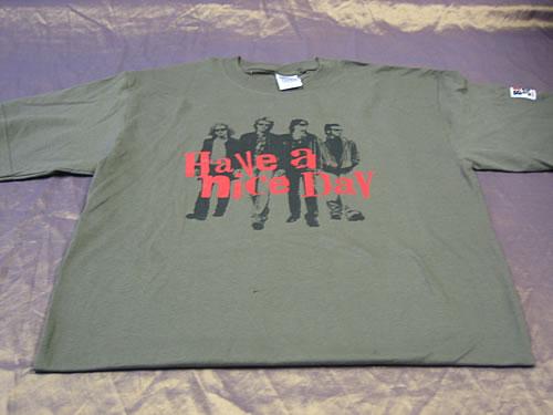 Bon Jovi Have A Nice Day - Khaki - Medium t-shirt UK BONTSHA346893