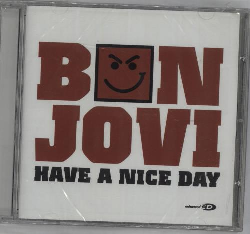"Bon Jovi Have A Nice Day - Sealed CD single (CD5 / 5"") UK BONC5HA676101"