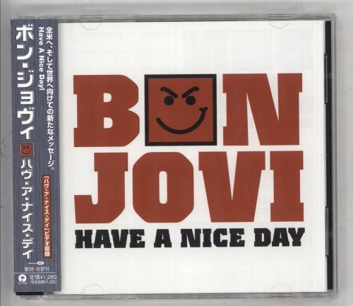 """Bon Jovi Have A Nice Day CD single (CD5 / 5"""") Japanese BONC5HA330875"""
