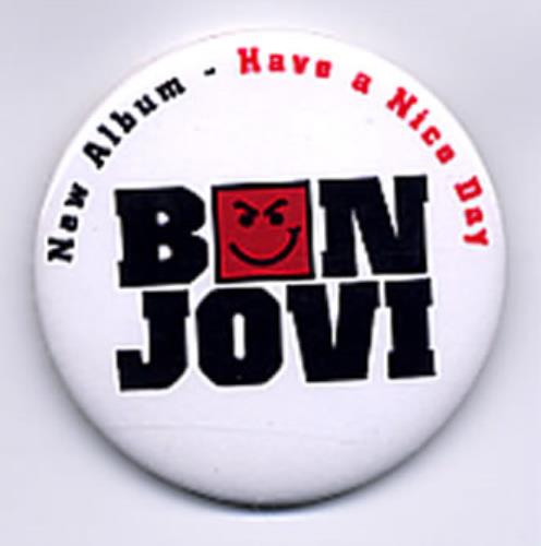 Bon Jovi Have A Nice Day Mexican Promo Memorabilia 336468 Set Of Badges