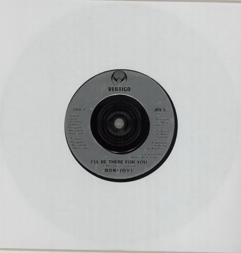 """Bon Jovi I'll Be There For You 7"""" vinyl single (7 inch record) UK BON07IL682119"""