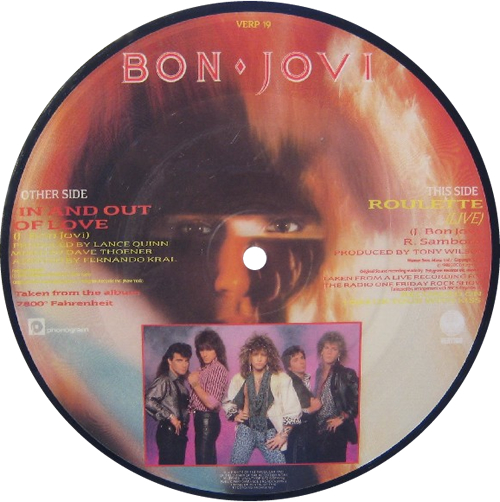 """Bon Jovi In And Out Of Love 7"""" vinyl picture disc 7 inch picture disc single UK BON7PIN01472"""