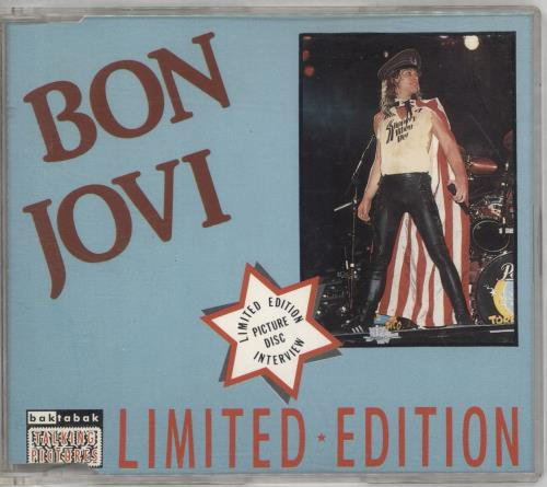 Bon Jovi Interview Picture Disc CD album (CDLP) UK BONCDIN248647
