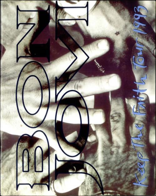 Bon Jovi Keep The Faith Tour 1993 tour programme UK BONTRKE172362