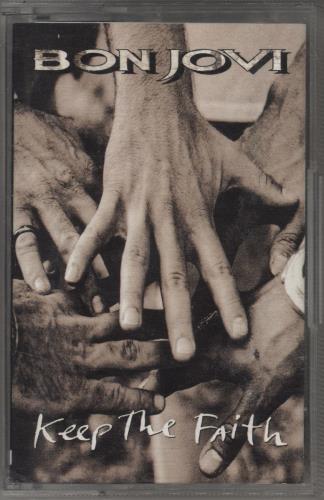 Bon Jovi Keep The Faith cassette album UK BONCLKE769316