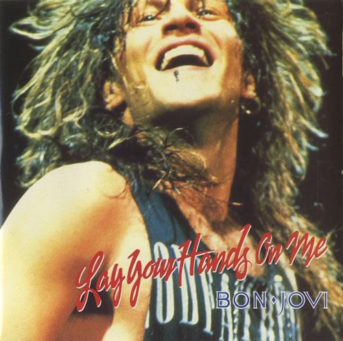 "Bon Jovi Lay Your Hands On Me - Injection Moulded 7"" vinyl single (7 inch record) UK BON07LA576582"