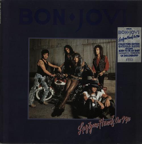 "Bon Jovi Lay Your Hands On Me - Number Stickered 12"" vinyl single (12 inch record / Maxi-single) UK BON12LA00539"