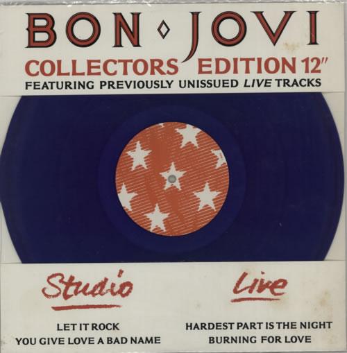 "Bon Jovi Let It Rock - Blue vinyl - EX 12"" vinyl single (12 inch record / Maxi-single) UK BON12LE599885"