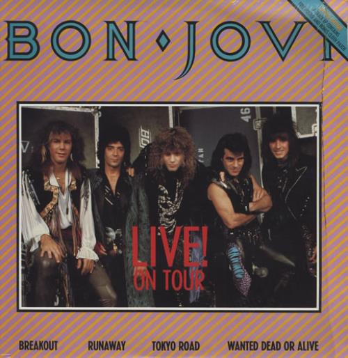 Bon Jovi Live On Tour Patch Poster Australian 12 Quot Vinyl