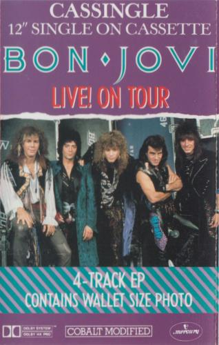 Bon Jovi Live! On Tour cassette single Australian BONCMLI70766