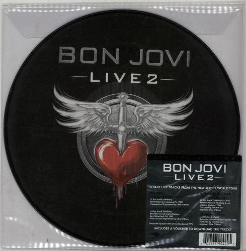 "Bon Jovi Live 2 - RSD BF14 10"" Vinyl Picture Disc (10"" Record Single) UK BON1PLI648640"