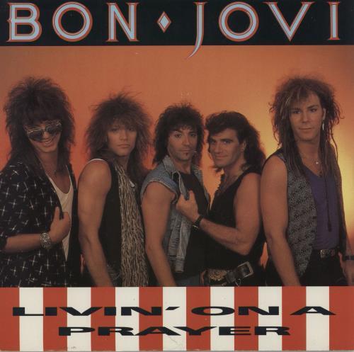 "Bon Jovi Livin' On A Prayer - Solid 7"" vinyl single (7 inch record) UK BON07LI01491"