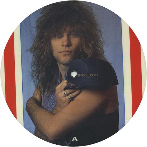 "Bon Jovi Livin' On A Prayer 7"" vinyl picture disc 7 inch picture disc single UK BON7PLI01471"