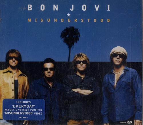 "Bon Jovi Misunderstood CD single (CD5 / 5"") UK BONC5MI293320"