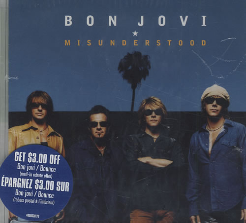 "Bon Jovi Misunderstood CD single (CD5 / 5"") Canadian BONC5MI430294"