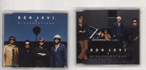 Bon Jovi Misunderstood 2-CD single set (Double CD single) Australian BON2SMI738673