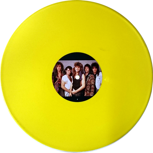 "Bon Jovi Never Say Goodbye - Yellow vinyl - EX 12"" vinyl single (12 inch record / Maxi-single) UK BON12NE00531"
