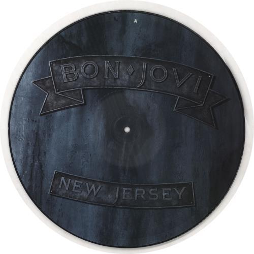 Bon Jovi New Jersey picture disc LP (vinyl picture disc album) UK BONPDNE738599