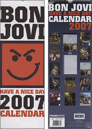 Bon Jovi Official 2007 Slim Calendar calendar UK BONCAOF380163