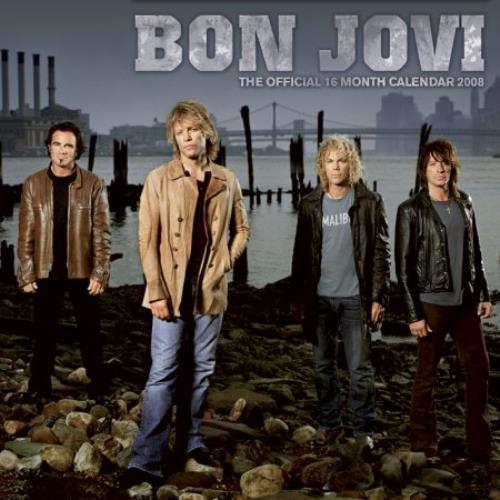 Bon Jovi Official Calendar 2008 calendar UK BONCAOF394370