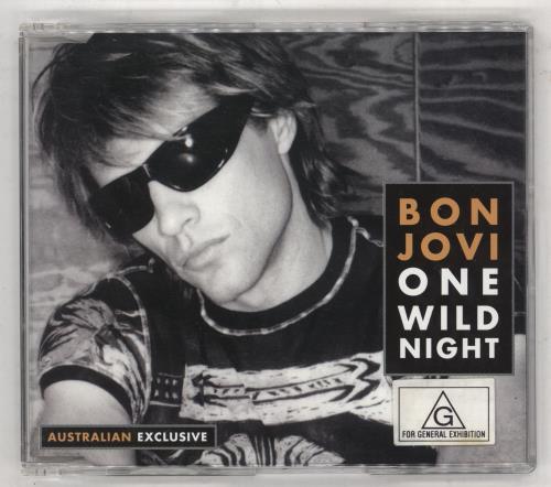 "Bon Jovi One Wild Night - Part 2 CD single (CD5 / 5"") Australian BONC5ON182466"