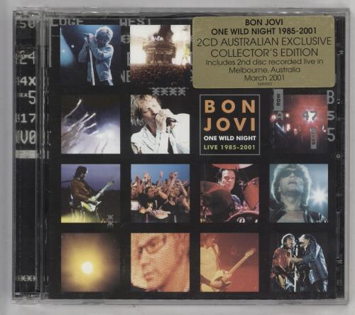 Bon Jovi One Wild Night 2 CD album set (Double CD) Australian BON2CON182645